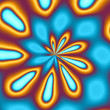 gold & blue swirl