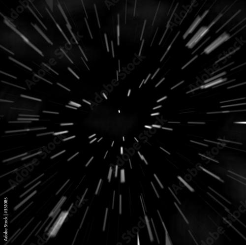 Aluminium Ruimtelijk hyperspace starfield zoom blur