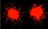 blood splats poster