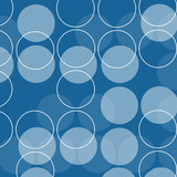 retro circles poster