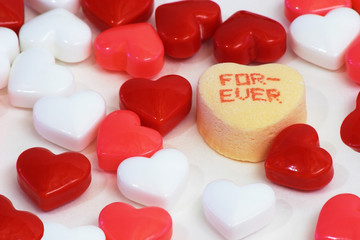 heart shaped candies