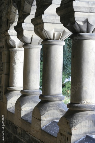 poster of stone columns