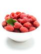 bowl of raspberries