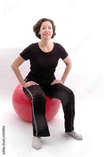 poster of woman on fitness ball