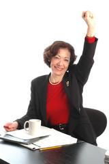 woman at desk