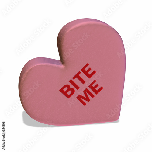 conversation heart - bite me