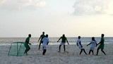 football plage - maldives