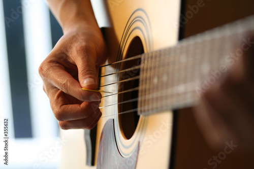 playing guitar
