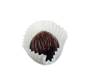 chocolate truffle-clipping path