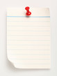 line paper with nail (with clipping path)