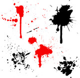 splats and drips poster