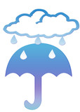 rain cloud and umbrella clipart poster