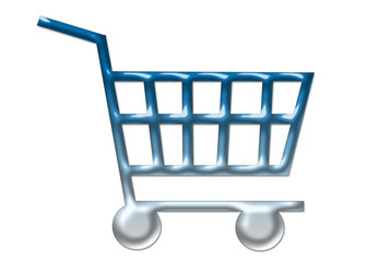 shopping cart 2 isolated