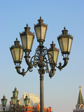 lightpost in moscow, russia poster