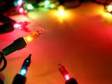 christmas lights frame 2 poster