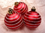 three christmas ornaments poster