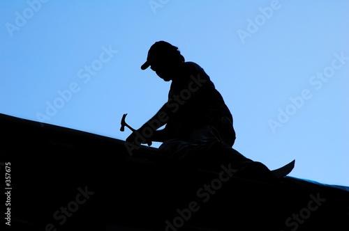 Leinwandbild Motiv roofer