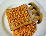 alphabet on toast poster
