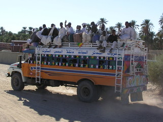travelling by bus in sudan