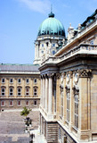 budapest royal palace courtyard poster