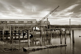 net shed and floating crane poster