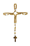rosary with cross, isolated poster