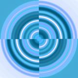 blue circle - swirl poster