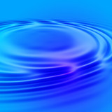 gentle blue water ripple poster