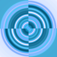 blue circle - swirl
