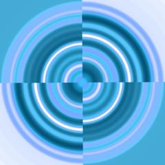 blue circle - swirl