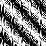 triangular tribal pattern b&w poster