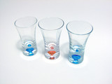 shot glass trio poster
