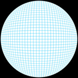 3d grid sphere poster