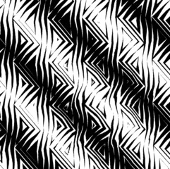 triangular tribal pattern b&w