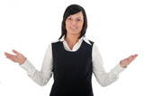 businesswoman gesturing poster