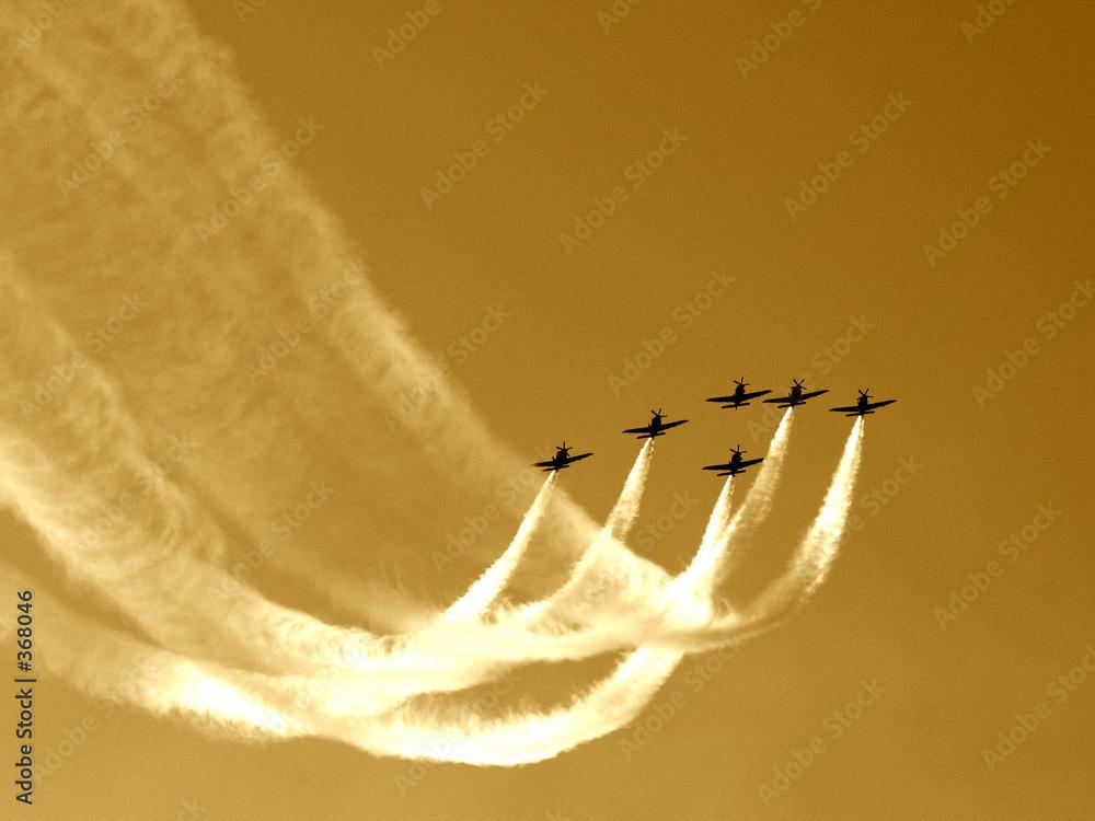 ewolucje samolot powietrze - powiększenie