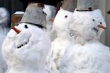 funny snowmen poster