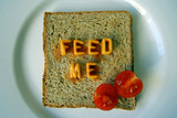 feed me words on toast poster