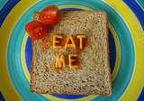 eat me words on toast poster