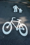 way for pedestrians and bikes poster