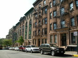 new york city townhouses poster