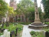 trinity church graveyard new york city poster