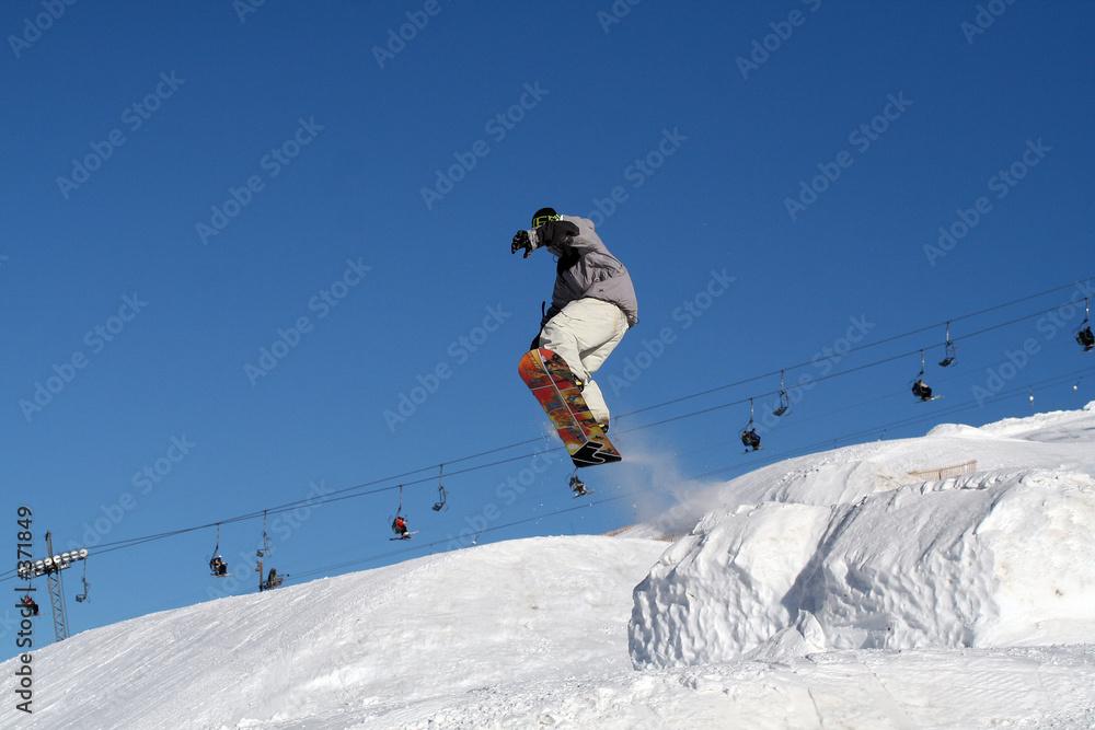 skok śnieg surf - powiększenie