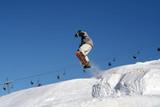 Fototapeta extreme snowboard