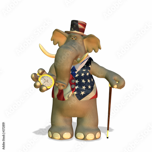 poster of political elephant