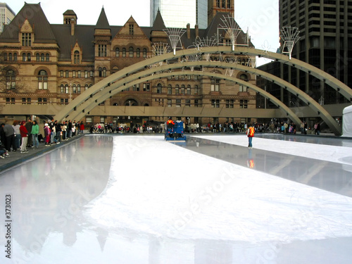 zamboni on skating rink in toronto