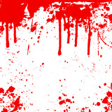 blood splats and drips poster