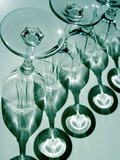 abstract  wine glasses poster