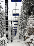 abundant ski lift at lake tahoe poster