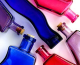 pattern of colorful bottles poster